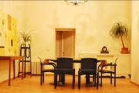 Separate dining room with buffet
