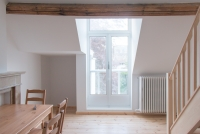 Lower floor view to french windows