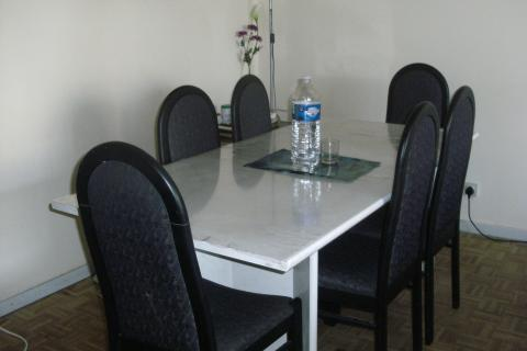 Site 1: Common room for studying, eating and meeting